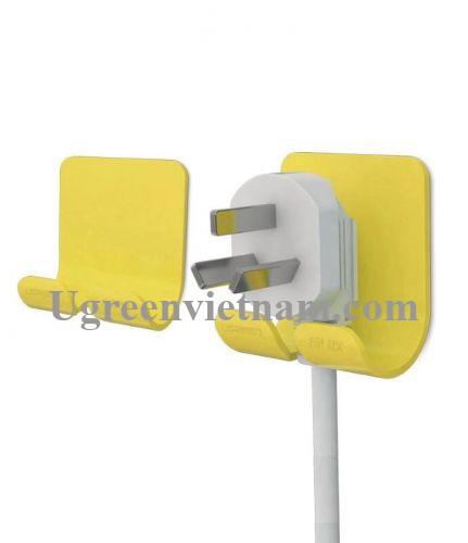 Ugreen 20366 Màu Vàng Móc treo phích cắm điện đa năng CD107 20020366