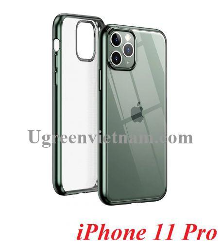 Ugreen 80468 iPhone 11 Pro ốp lưng trong suốt viền xanh chống va đập LP268 20080468