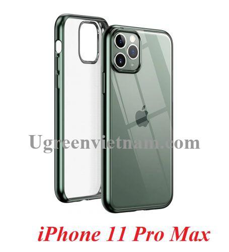 Ugreen 80471 iPhone 11 Pro Max ốp lưng trong suốt viền xanh chống va đập LP268 20080471