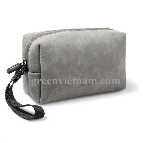 Ugreen 80520 23x13.6x7.7cm Túi đựng phụ kiện điện tử có dây buộc màu xám LP285 20080520