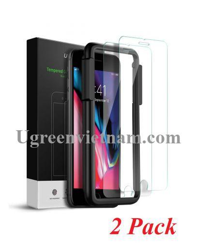 Ugreen 60372 iPhone 7 - 8 màu trắng 2 miếng dán kính cường lực bảo vệ chống trầy xướt 60372 20060372