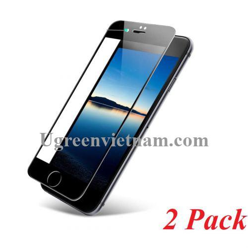 Ugreen 60373 iphone 7 - 8 màu đen 2 miếng dán cường lực bảo vệ HD SP113 20060373