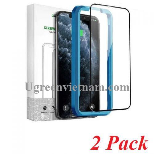 Ugreen 70986 Iphone 11 pro max 6.1inch 2 miếng dán kính cường lực bảo vệ 3D SP141 20070986