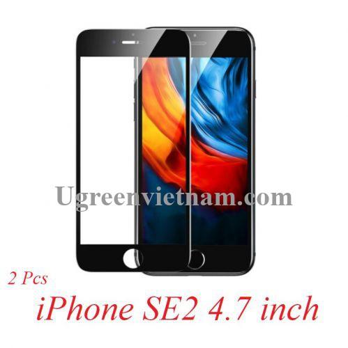 Ugreen 80620 iPhone SE2 2 miếng dán bảo vệ màu đen bo cạnh kèm Kit dụng cụ dán SP152 20080620