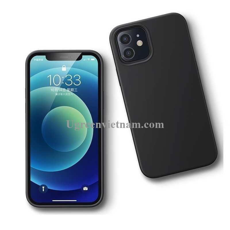 Ugreen 20452 Iphone 12 mini 5.4inch Màu Đen Ốp Lưng điện thoại Silicone LP417 20020452