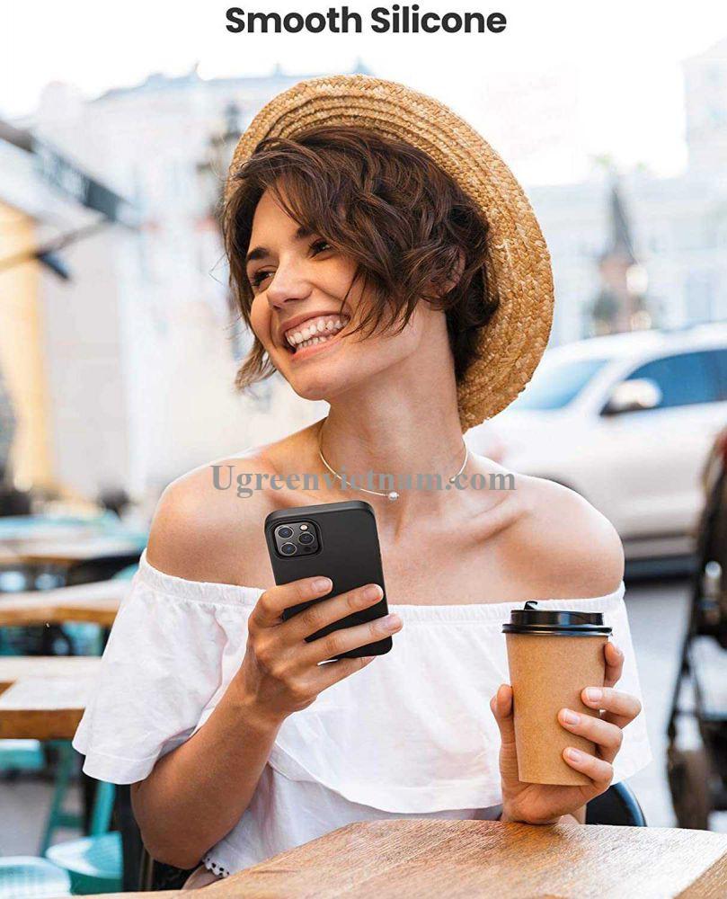 Ugreen 20454 Iphone 12 Pro 6.1inch Màu Đen Ốp Lưng điện thoại Silicone LP418 20020454