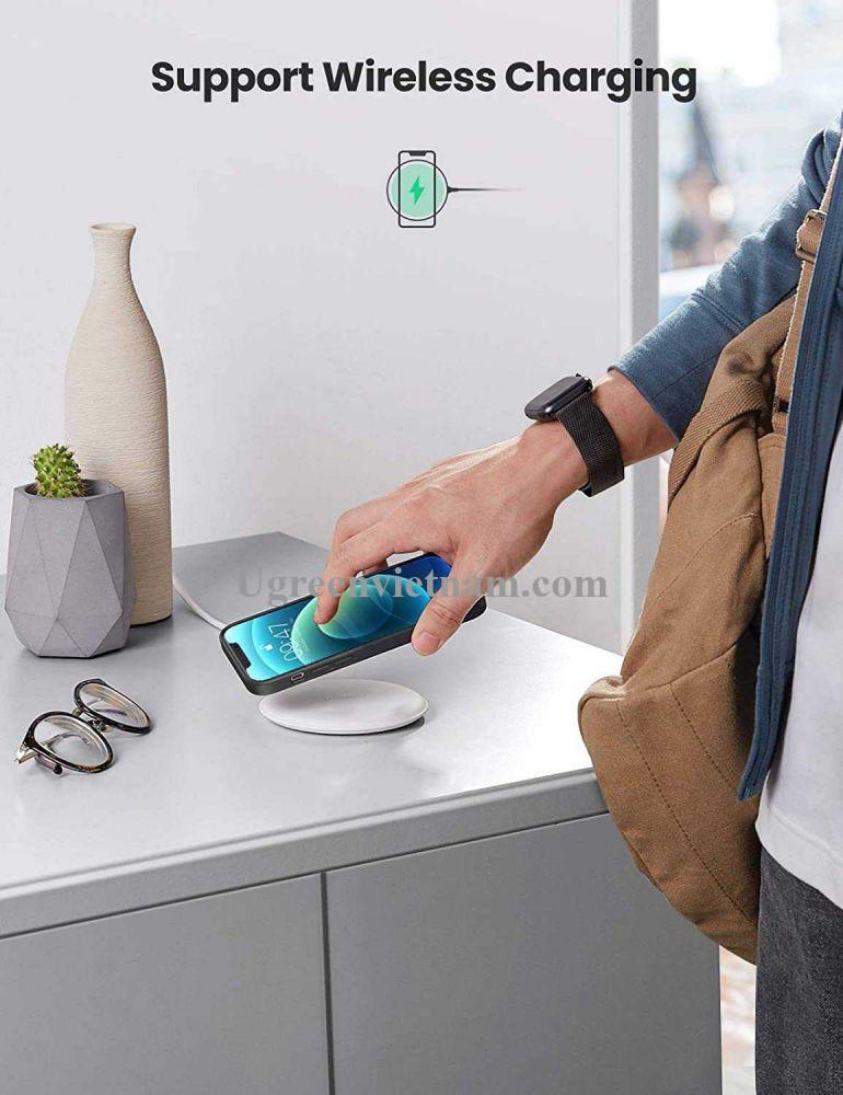 Ugreen 20458 Iphone 12 Pro Max 6.7inch Màu xanh Navy Ốp Lưng điện thoại Silicone LP417 20020458
