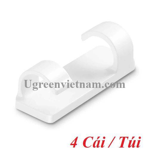 Ugreen 20560 4 chiếc 1 túi Màu Trắng Giá đỡ kẹp dây cáp linh hoạt LP332 20020560