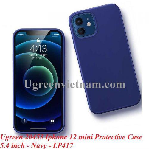 Ugreen 20453 Iphone 12 mini 5.4inch Màu Xanh Navy Ốp Lưng điện thoại Silicone LP417 20020453