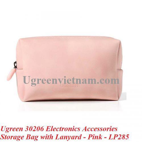 Ugreen 30206 Màu Hồng Túi đựng bằng da cho phụ kiện kỹ thuật số LP285 20030206