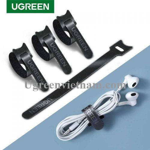 Ugreen 86210 10 sợi 18cm màu đen Dây dán Velcro tiện dụng chất liệu plastic 1 túi có 10 chiếc 20245P10 LP401 20086210