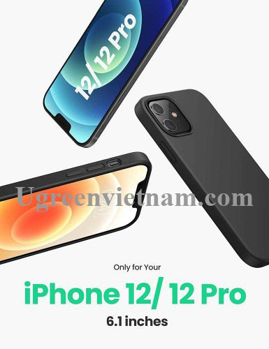 Ugreen 20455 Iphone 12 Pro 6.1inch Màu Xanh Navy Ốp Lưng điện thoại Silicone LP418 20020455