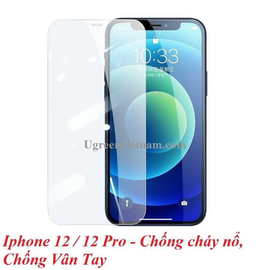 Ugreen 20389 Iphone 12 6.1inch Trong suốt 9H Miếng dán cường lực chống bảo vệ chống rơi chống cháy nổ chống bám vân tay SP159 20020389