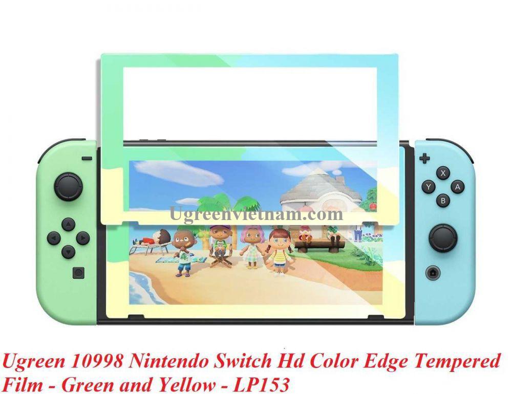 Ugreen 10998 Viền Xanh Lá và Vàng Kính cường lực bảo vệ màn hình Nintendo Switch LP153 20010998