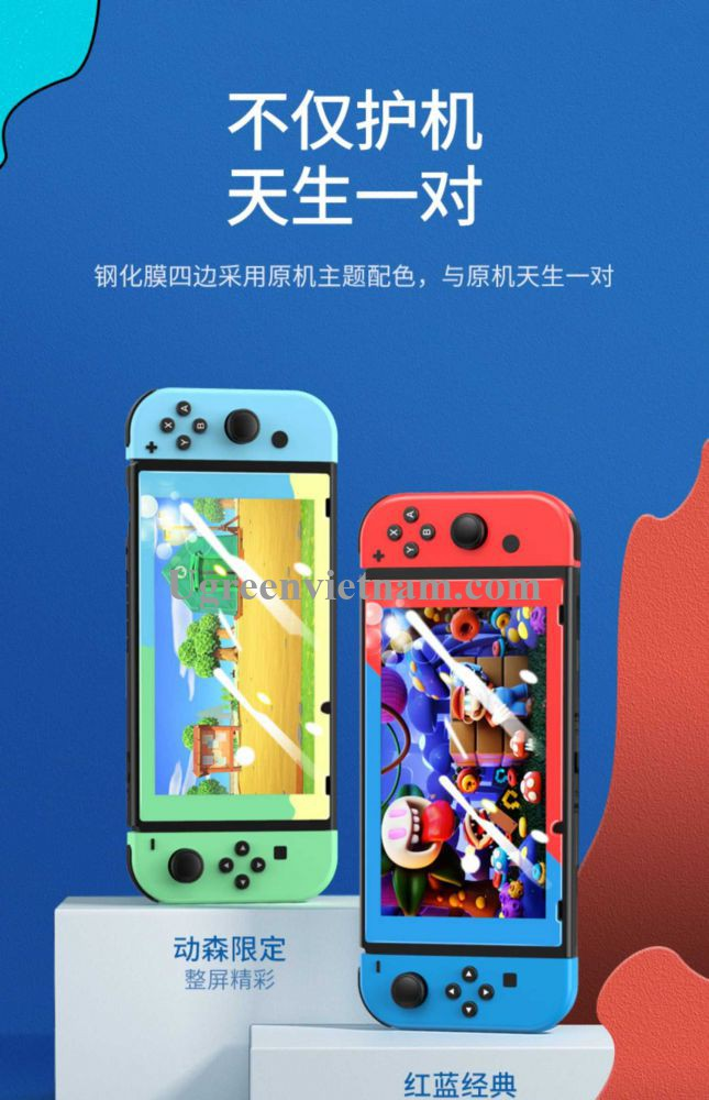 Ugreen 20127 Viền Xanh Dương và Đỏ Kính cường lực bảo vệ màn hình Nintendo Switch chủ đề Mr Mario LP153 20020127