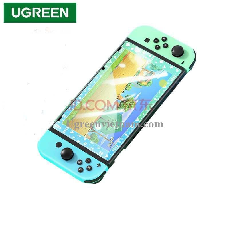 Ugreen 20130 Viền Xanh Dương và Xanh Lá Kính cường lực bảo vệ màn hình Nintendo Switch chủ đề Hoa Lá LP153 20020130
