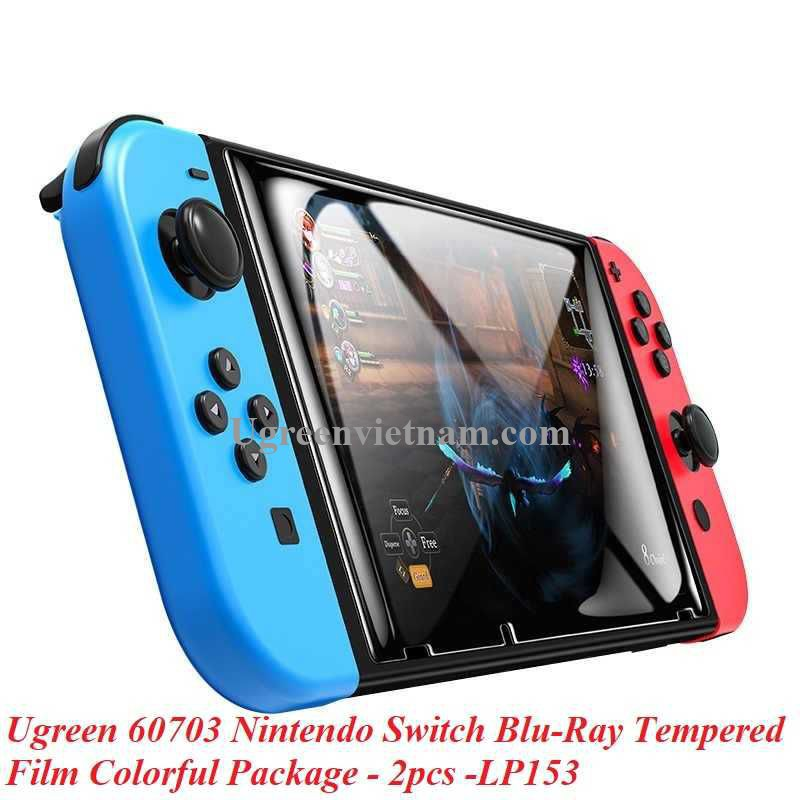 Ugreen 60703 2Pcs Nintendo Switch Blu-Ray Tempered Film Colorful Package LP153 20060703