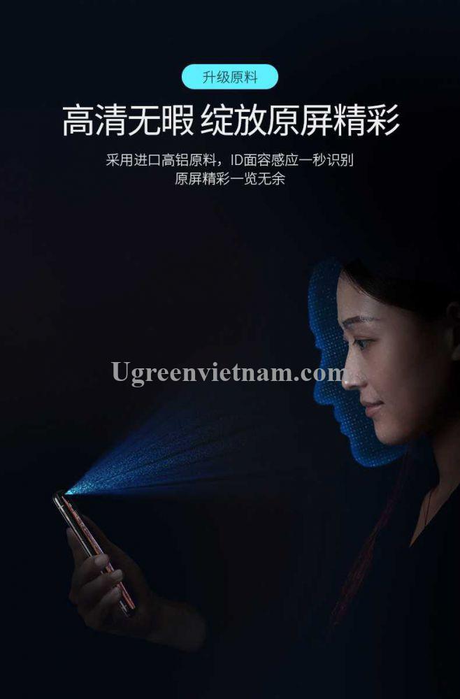 Ugreen 60334 Iphone X Xs 5.8inch 3D Trong suốt 9H Miếng dán cường lực bảo vệ chống rơi SP111 20060334