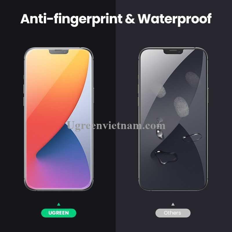 Ugreen 20347 2 miếng dán Iphone 12 Mini 5.4inch Trong suốt 9H cường lực bảo vệ chống rơi Full HD SP158 20020347