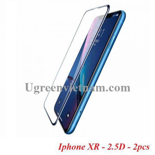 Ugreen 60537 2 miếng dán Iphone XR 6.1inch 2.5D Trong suốt 9D cường lực bảo vệ chống rơi SP116 20060537