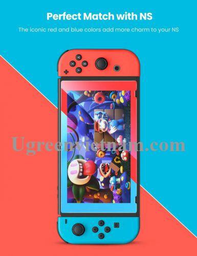 Ugreen 10997 Viền Đỏ và Xanh Dương Kính cường lực bảo vệ màn hình Nintendo Switch LP153 20010997