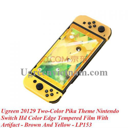 Ugreen 20129 Viền Nâu và Vàng Kính cường lực bảo vệ màn hình Nintendo Switch chủ đề Pikachu LP153 20020129