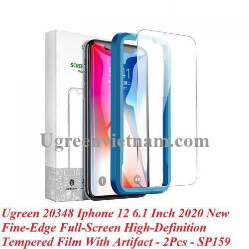 Ugreen 20348 2 miếng dán Iphone 12 Pro 6.1inch Trong suốt 9H cường lực bảo vệ chống rơi Full HD SP159 20020348