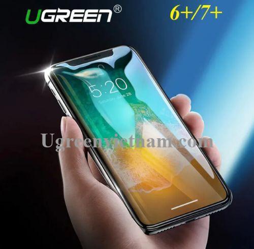Ugreen 50947 cho iPhone 6 Plus + 7 Plus Miếng dàn cường lực độ cứng chuẩn 9H LP171 20050947