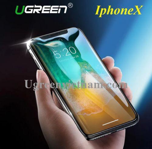 Ugreen 50948 cho iPhone X Miếng dàn cường lực độ cứng chuẩn 9H LP171 20050948