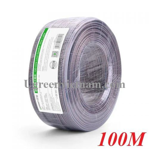Ugreen 20851 100M Màu Đen Cáp âm thanh loa 100 tim AV137
