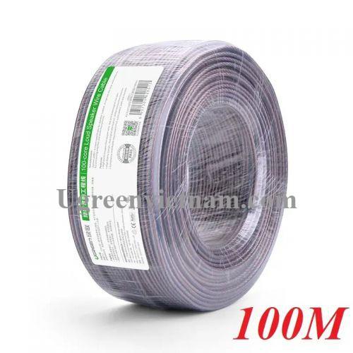 Ugreen 20852 100M Màu Đen Cáp âm thanh loa 150 tim AV137