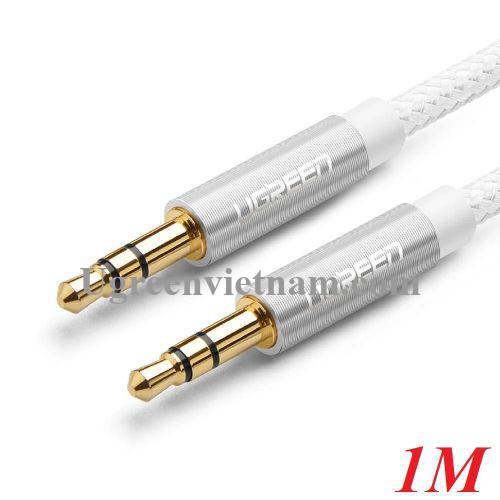 Ugreen 50366 1M 2 đầu 3.5mm dương màu BẠC Cáp âm thanh AV112 20050366