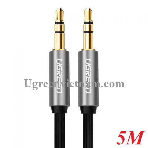 Ugreen 10731 5M màu Đen Cáp âm thanh 2 đầu 3.5mm dương dây dẹt 10731
