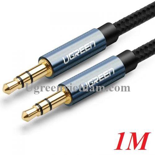 Ugreen 60179 1M màu Xanh Cáp âm thanh 2 đầu 3.5mm dương AV112