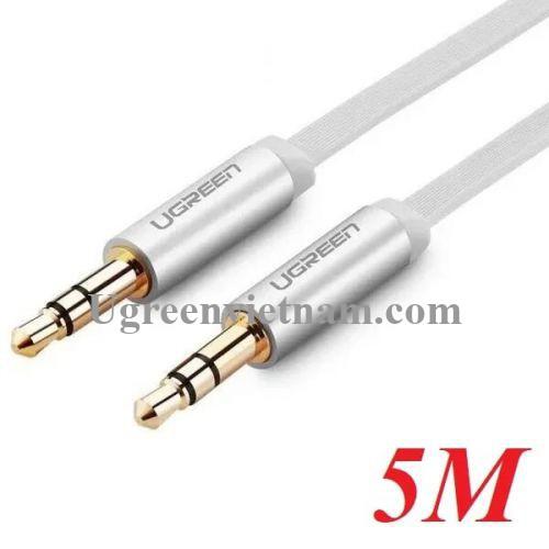 Ugreen 10767 5M màu Trắng Cáp âm thanh 2 đầu 3.5mm dương AV119