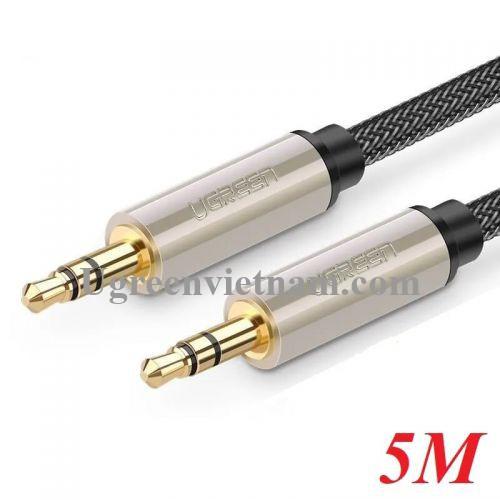 Ugreen 10606 5M màu Đen Cáp âm thanh 2 đầu 3.5mm dương cao cấp AV125