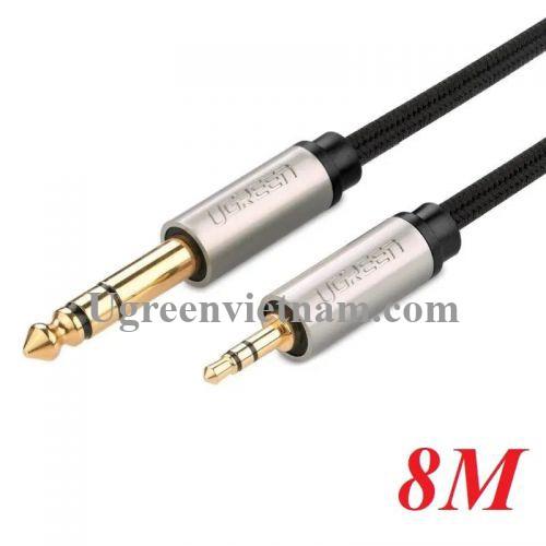 Ugreen 10631 8M màu Đen Cáp âm thanh 6.5mm dương sang 3.5mm dương AV127