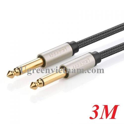 Ugreen 10639 3M màu Đen Cáp âm thanh 2 đầu 6.5mm dương cao cấp AV128