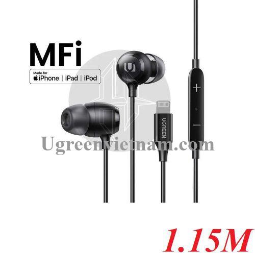 Ugreen 80655 1.15M đầu Lightning Iphone tai nghe nhét tai MFI 80655 20080655