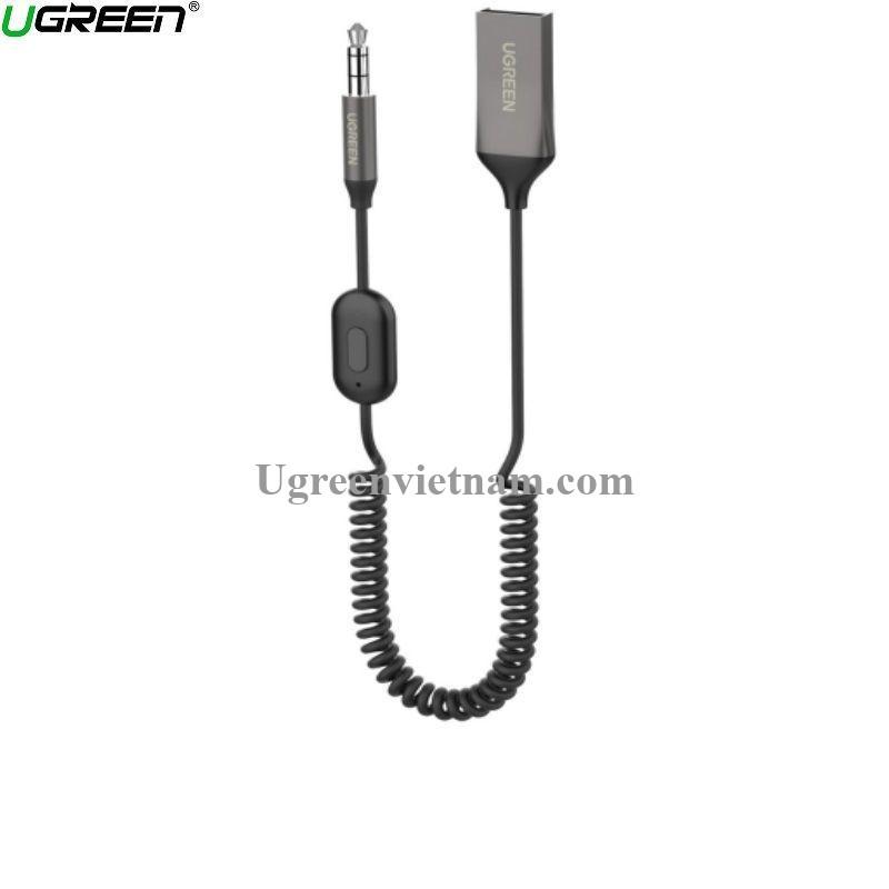 Ugreen 70603 1.5M dây lò xo 3.5mm v5.0 bộ nhận Bluetooth dùng cho loa hay trên xe hơi CM309 20070603
