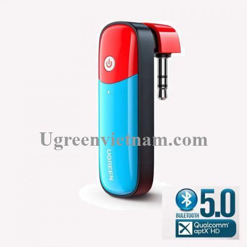 Ugreen 80188 Bluetooth 5.0 bộ phát bt jack 3.5mm Audio hỗ trợ chuẩn APTX Low Latency cho Nintendo Switch - Lite. PS4. PC CM324 20080188