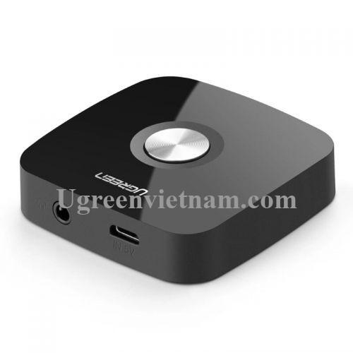 Ugreen 40758 BT 4.2 màu Đen Bộ nhận âm thanh Bluetooth chuẩn 3.5mm hỗ trợ APTX CM105