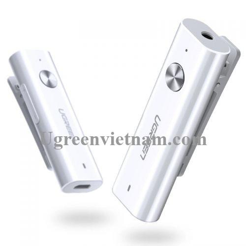 Ugreen 40854 BT 4.2 màu Trắng Thiết bị Bluetooth 4.2 hỗ trợ dùng cho tay nghe + MIC CM110