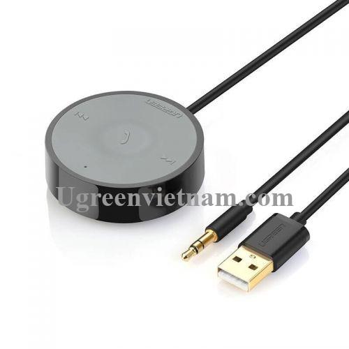 Ugreen 40760 BT 4.2 màu Đen Thiết bị nhận âm thanh Bluetooth trên xe hơi chuẩn 3.5mm hỗ trợ APTX CM124