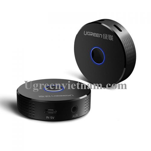Ugreen 40967 BT 4.2 màu Đen Bộ nhận âm thanh Bluetooth trên xe hơi CM127