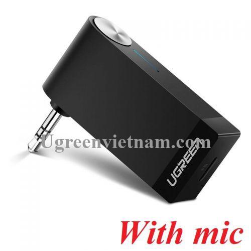 Ugreen 40757 BT 4.2 màu Đen Thiết bị nhận âm thanh Bluetooth có Micro hỗ trợ APTX MM114
