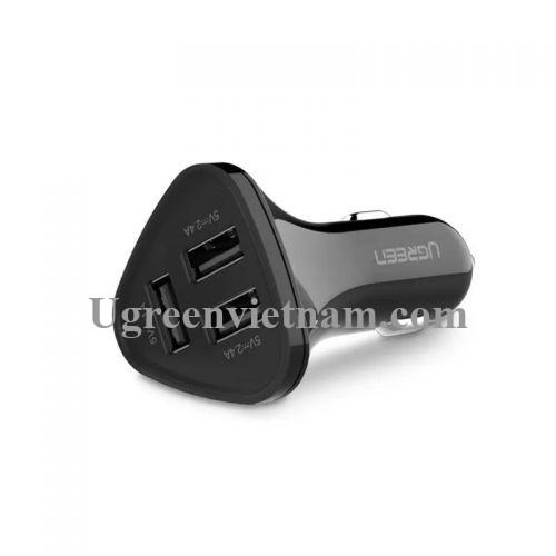 Ugreen 40284 29W màu Đen Bộ sạc ô tô 3 cổng USB CD124