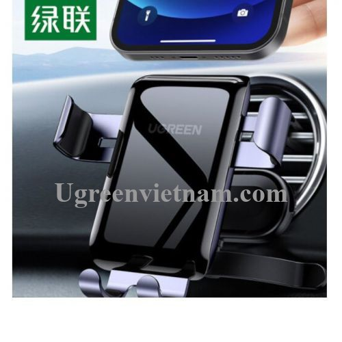Ugreen 30401 xoay 360 độ Màu Xám Giá đỡ điện thoại trên xe hơi kẹp bằng nhôm LP274 20030401