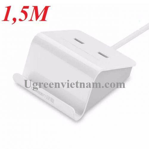 Ugreen 20374 1.5M Đế sạc để bàn 2 cổng USB 20374