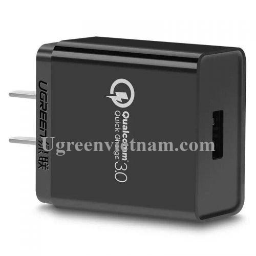 Ugreen 20838 30W màu Đen Củ sạc nhanh cổng USB chuẩn QC 3.0 CD122